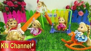 Đồ chơi trẻ em Bé Na & Nhật ký chibi Búp bê công viên Stop motion Baby Doll Park kid toys