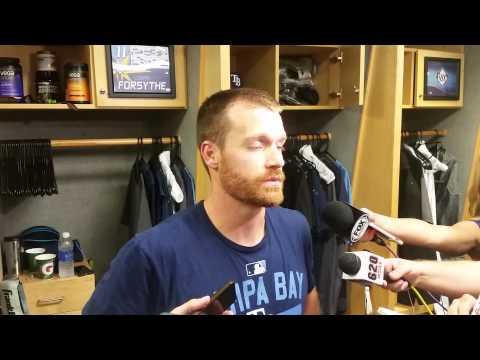 Rays' Logan Forsythe Talks On Sixth Inning Bases Loaded Walk