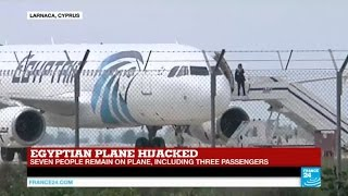 "Egyptian plane hijacked: hijacking ""not terrorist-related"", 7 hostages still onboard"