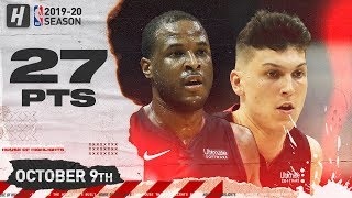 Tyler Herro & Dion Waiters Full Highlights vs Charlotte Hornets (2019.10.09) - 27 Pts Combined!