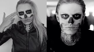 TATE LANGDON HALLOWEEN MAKEUP TUTORIAL♡ AMERICAN HORROR STORY SERIES