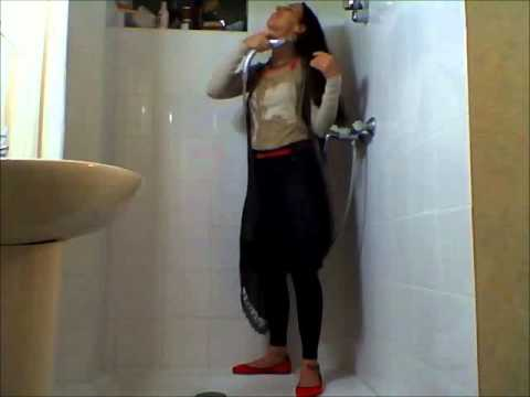 wet girl 1 (shower fully clothed)