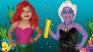 download musica Disney The Little Mermaid Ariel and Ursula Makeup Halloween Costumes and Toys