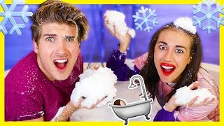 BATH FULL OF SNOW CHALLENGE! w/Miranda Sings