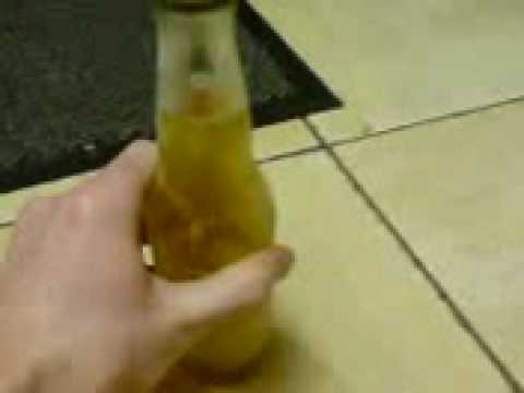 Instant Ice from liquid Beer