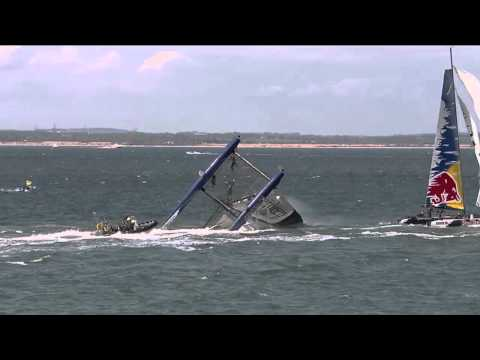 Extreme Sailing Series 2011:  Cowes - Capsize for Aberdeen Asset Management