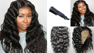 How To Crimp Hair Like A Pro! | Using Indian Straight 360 Lace Wig | Bestlacewigs
