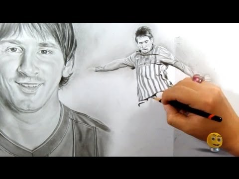 RetratoSpeed de MESSI (*paunegretemarin*Retrato a lápiz*) BARCELONA