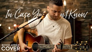 youtube to mp3 In Case You Didn't Know - Brett Young (Boyce Avenue Acoustic Cover) On Spotify & ITunes
