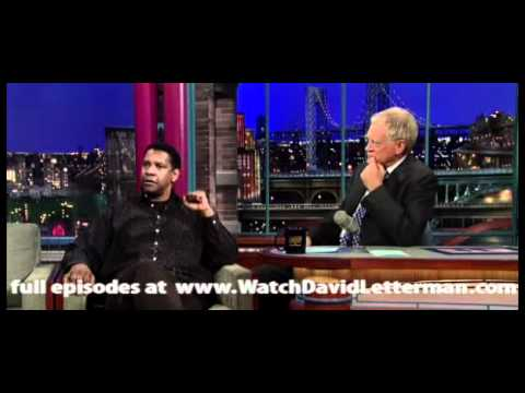 Denzel Washington in Late Show with David Letterman 2010-11-09