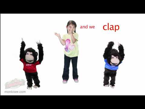 MonkiSee Action Words Song  We Run