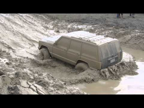Jeep Mudding The Hill And Hole