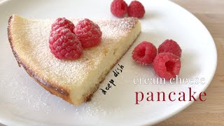 Deep Dish Cream Cheese Pancake   Keto Low Carb
