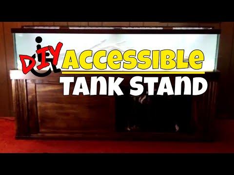 DIY Accessible Aquarium Fish Tank Stand Built by Brian's Aquatics