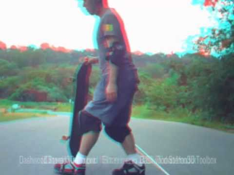 Longboarding in 3D - Sterioscopic Anaglyph (Red Blue Glasses)