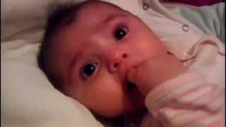 Bebe habla con papa 3 meses / baby talk 3 months