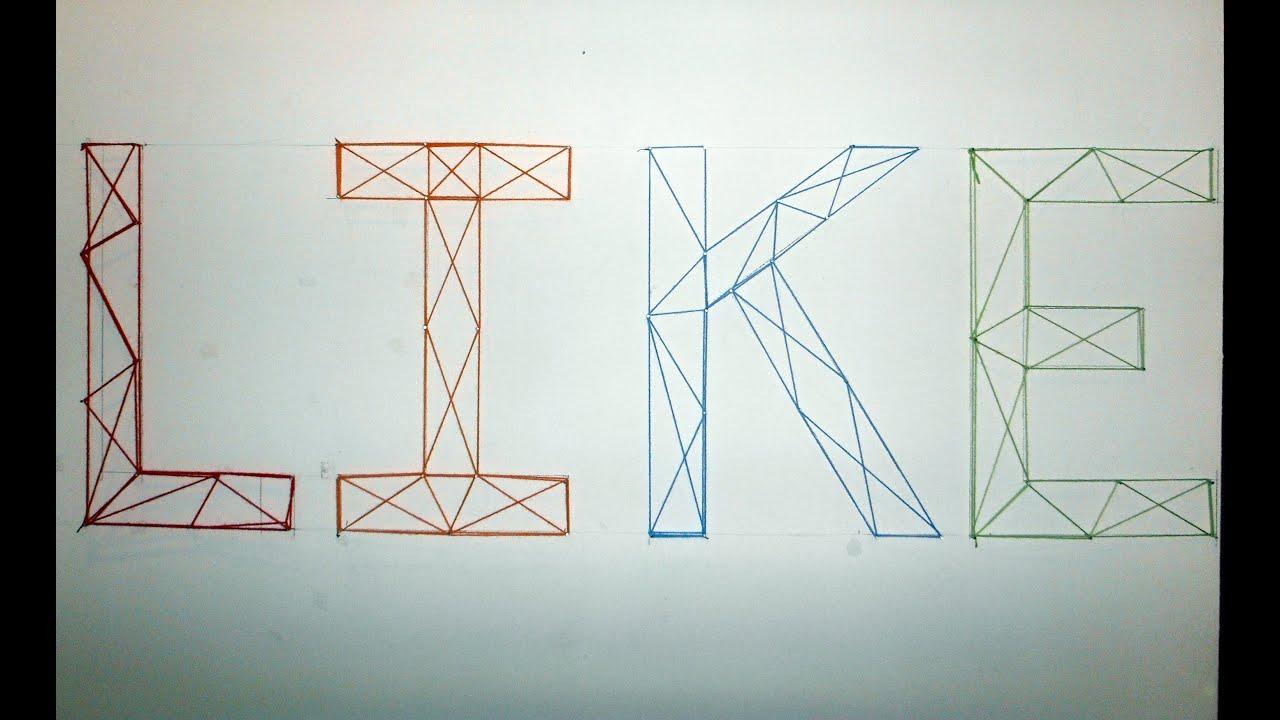 C mo decorar una pared con letras hechas con lana f cil y - Pintar paredes con dibujos ...