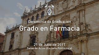 Graduación: Grado en Farmacia · 21/07/2017