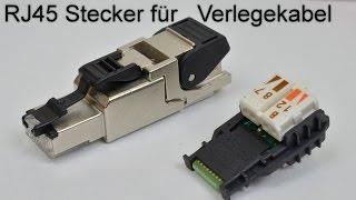 RJ45 Stecker auf Verlegekabel crimpen / aufbringen (RJ-45 Netzwerkstecker aufbringen)