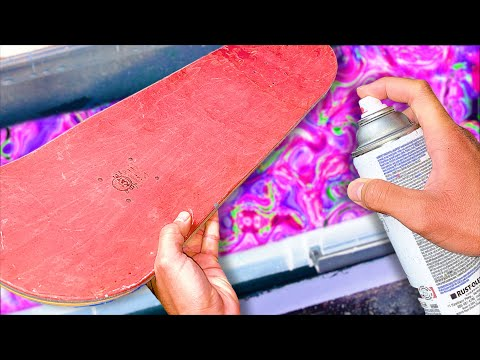 HYDRO DIPPING A CUSTOM SKATEBOARD