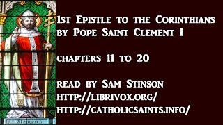 1st Epistle of Saint Clement, by Pope Saint Clement I, Chapters 11 thru 20