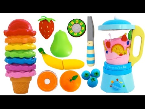 Best Learning Colors Video Paw Patrol Ice Cream Toy Blender Learn Fruits with Wooden Velcro Toys