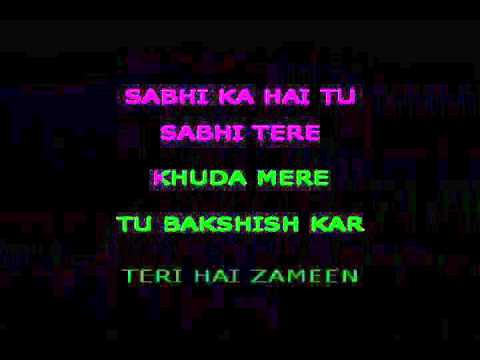 Teri Hai Zameen Tera Aasmaan Karaoke Video Lyrics The Burning Train