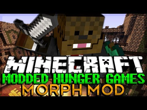 Minecraft MODDED Hunger Games MORPH ANIMALS MOD