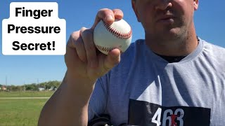 5 Pitches ⚾️ that will make hitters look stupid IF you grip them like THIS! (Finger Pressure Secret)