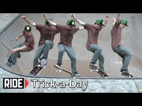 How-To Frontside Nosegrind with Kevi Kowalski - Trick-a-Day