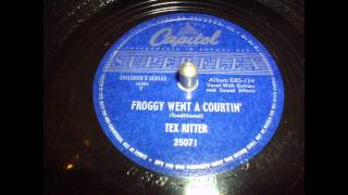 Watch Tex Ritter Froggy Went A Courtin