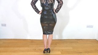 Sexy Latex Skirt and High Heels Fetish CE
