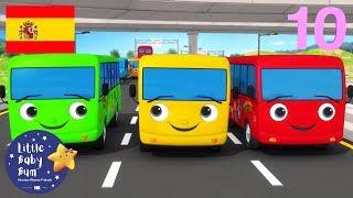 Canciones Infantiles | Diez Autobuses | P. 4 | Dibujos Animados | Little Baby Bum en Español