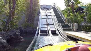 Jurassic Park: The Ride at Universal Studios Hollywood - Full Front POV