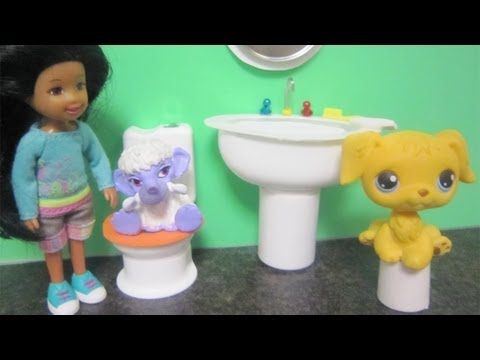 How to make a bathroom sink  for Littlest Pet Shop dolls - Recycling