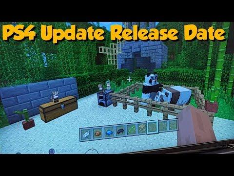 Minecraft PS4 TU82 RELEASE DATE (1.14 / 1.8 Update)