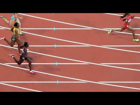 USA's Sanya Richards-Ross claims Gold in 400m at London Olympics 2012