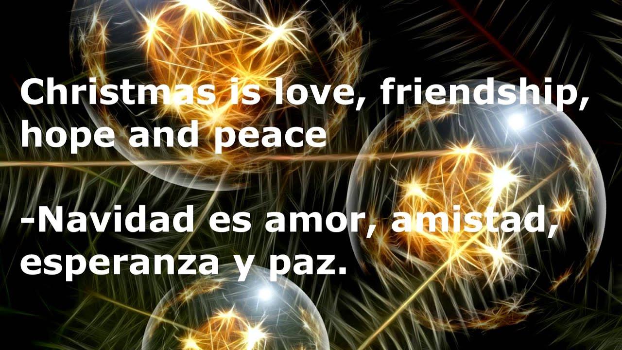 Mensajes De Navidad En Ingles Y Espanol