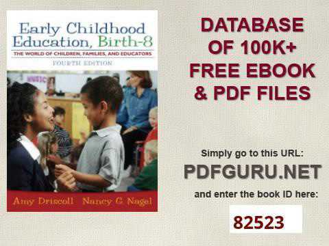 Early Childhood Education Birth   8 The World of Children, Families, and Educators 4th Edition
