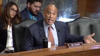 Sen. Booker Discusses Race and Policing with FBI Director Comey
