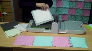 Create the AccuQuilt GO!™Cozy Rag Squares Lap Quilt