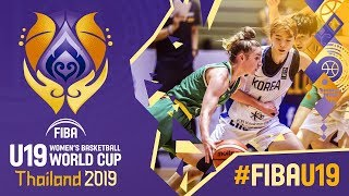 Korea v Australia - Full Game - FIBA U19 Women's Basketball World Cup 2019