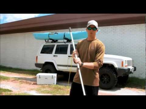 Kayak Stake Out Pole - Shallow Water Anchor Pole - DIY Easy Cheap