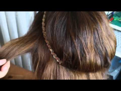 C mo hacer un peinado f cil con diadema - Como hacer diademas ...
