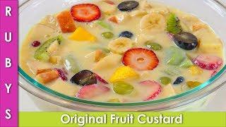 Fruit Custard Without Custard Powder Recipe Ramzan Special Recipe in Urdu Hindi  - RKK
