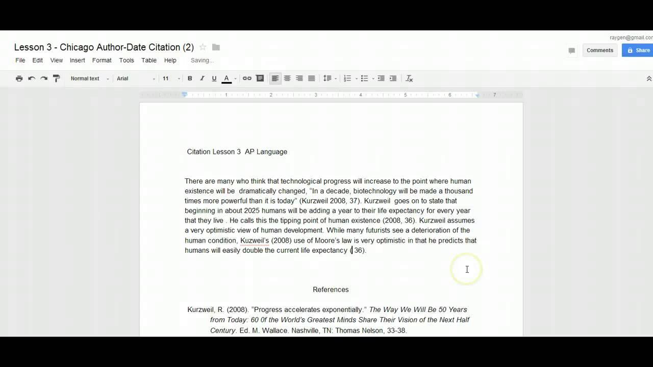 Harvard essay format example
