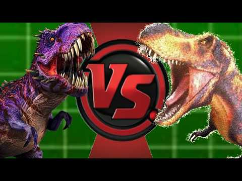 Omega09 Vs Black T-rex (Jurassic World Vs Dinosaur King) Animation Battles 24!