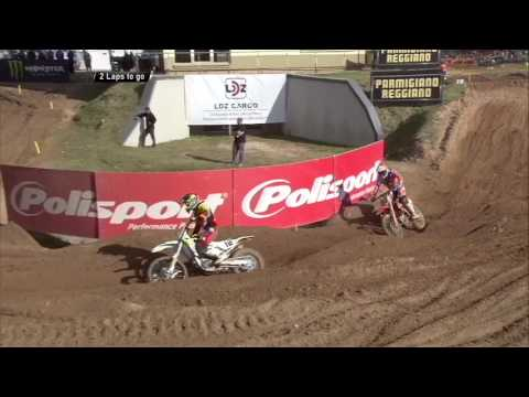 MXGP of Latvia Jeffrey Herlings passes Max Nagl at the last lap of MXGP Qualifying...
