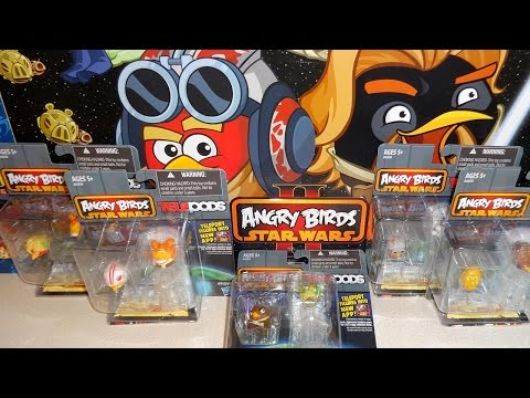 Star Wars II Angry Birds Telepods 10 Figures Series 1 2-pack Unboxing