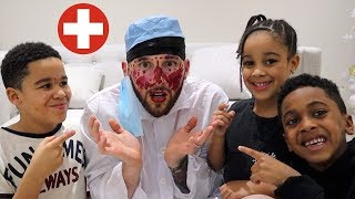 Makeup Prank on Doctor Daddy!